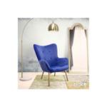 Kido фотьойл от  кадифе/ цвят син