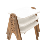 Комплект маси Valera 3 броя- бял гланц-орех