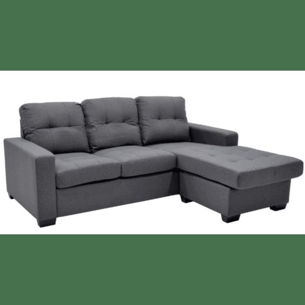 Ъглов диван Betty -сив