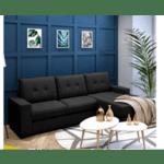 Ъглов диван Betty-черен