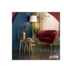 Poison фотьойл  с кадифе/ бордо цвят