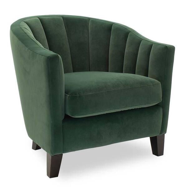 Фотьойл Boca с дамаска в тъмно зелен цвят