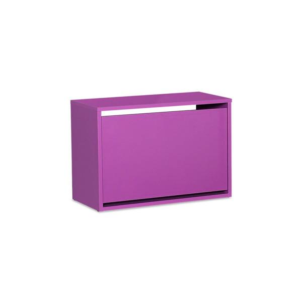 Поставка за обувки, Olso 6 двойки в лилав цвят 60x30x42cm