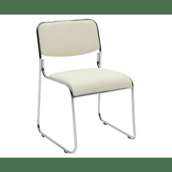 Посетителски стол Корина-бял