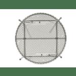 Кетъринг маса Comfort бяла Φ180x74см