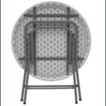 Кетъринг маса бяла кръгла Φ80x74см