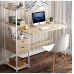 Офис бюро  Oban ляв  естествено-бял 124x40x72 / 111см