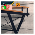 Офис бюро Торино цвят орех-черен 100х45х75см