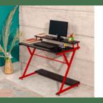 Офис бюро Торино черно-червен 100х45х75см