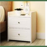 Нощно шкафче Taffy бял цвят