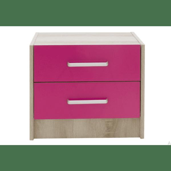 Детско нощно шкафче Looney-розов цвят