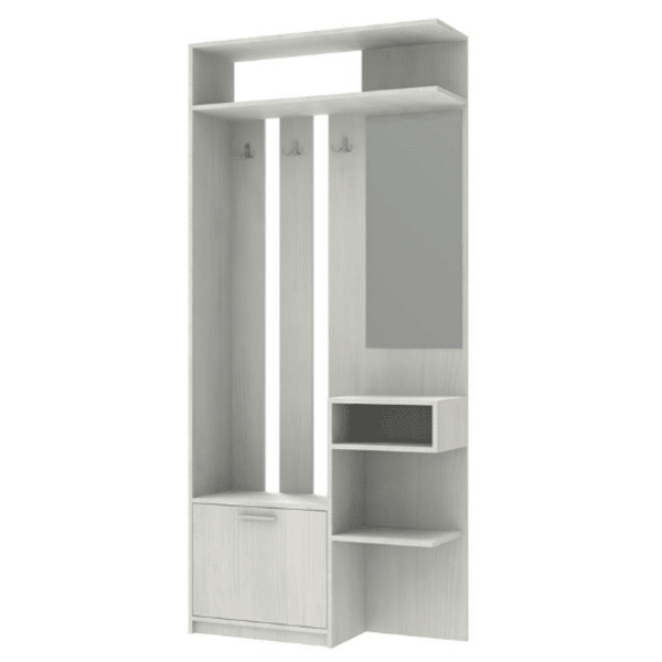 Шкаф за антре Klaus-бял цвят
