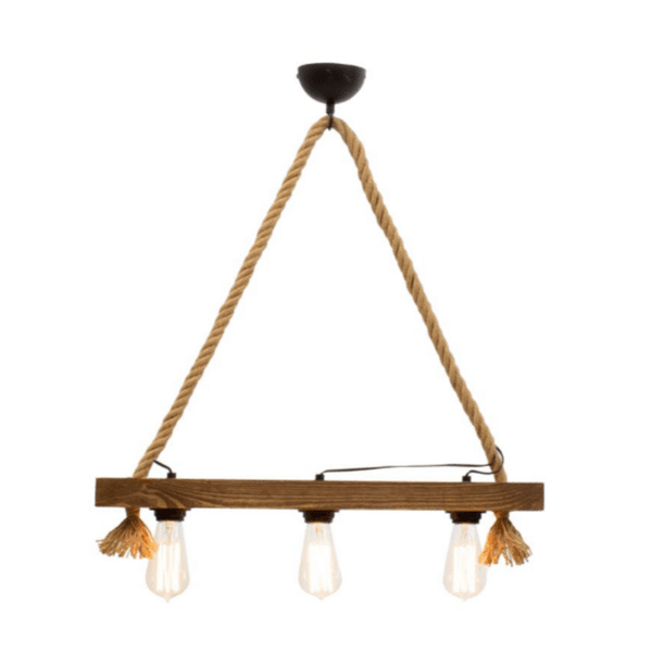 Висяща таванна лампа  орех-черен 48x8,5x63cm