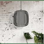 Висяща метална  таванна лампа Корина-черен цвят