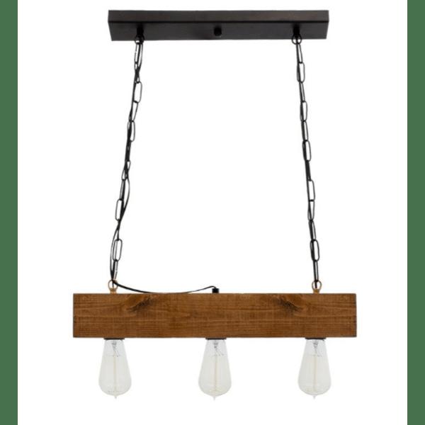 Таванна лампа Дея- орех цвят-черен 50x8x59cm
