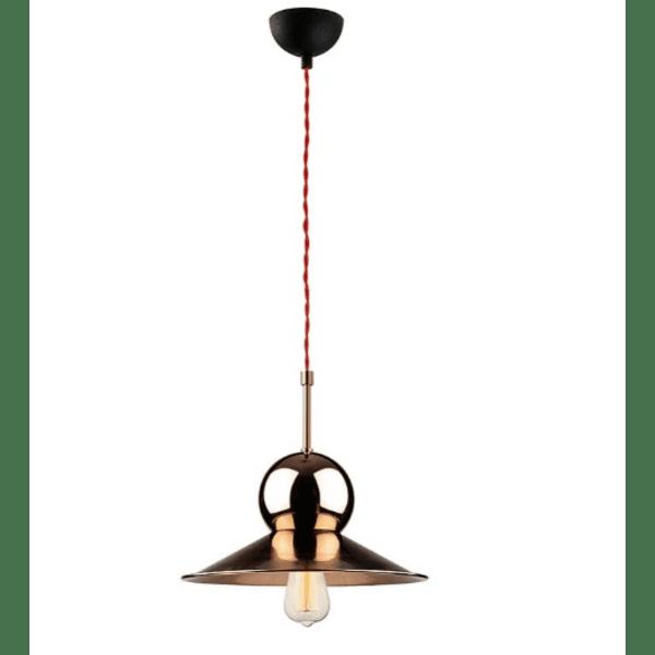Таванна лампа  цвят бронз-черен Φ31x126см