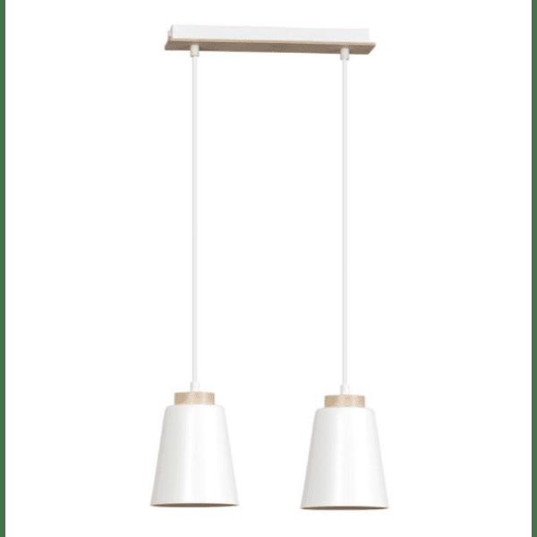 Таванна лампа цвят бял естествен 40х14х100см