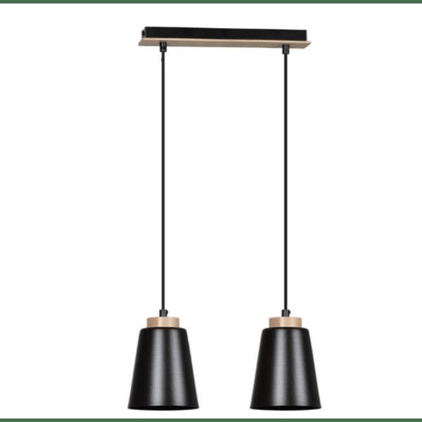 Таванна лампа цвят черен-естествен 40х14х100см