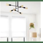 Таванна лампа Лея-цвят черен Φ75x50см