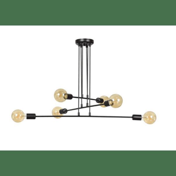 Таванна лампа Мона-цвят черен 80x60x80cm
