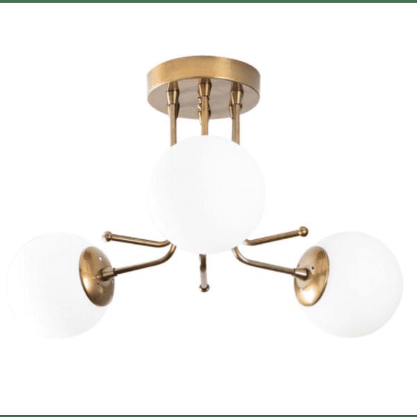 Таванна лампа- цвят злато - бяло 48x48x34cm