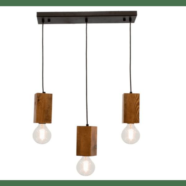 Таванна лампа Олия-орех цвят-черен 51х10х72см