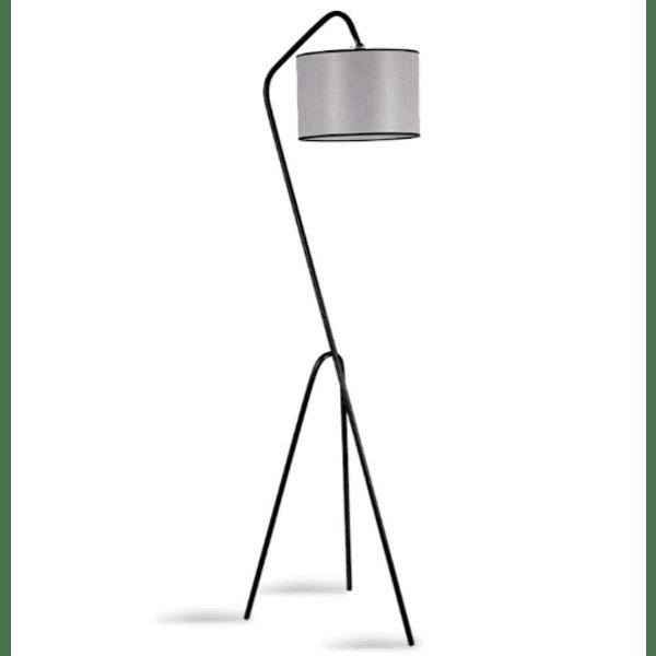 Метална подова лампа  цвят сив - черен 30x50x165см