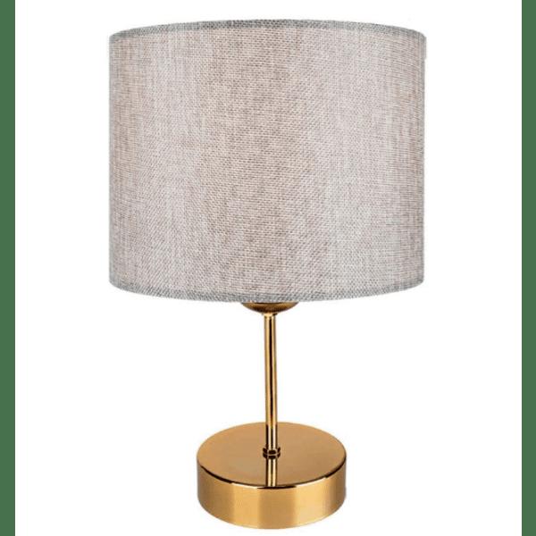 Настолна лампа PWL-0961  сиво-златна Φ22x32см