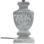 Настолна лампа Socoro цвят сив античен шапка бял