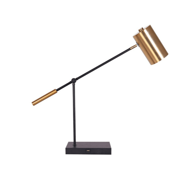 Офис лампа PWL-0933 цвят злато-черен 65,5x22x70,5cm