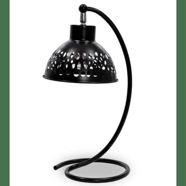 Метална настолна лампа PWL-0026 черен цвят