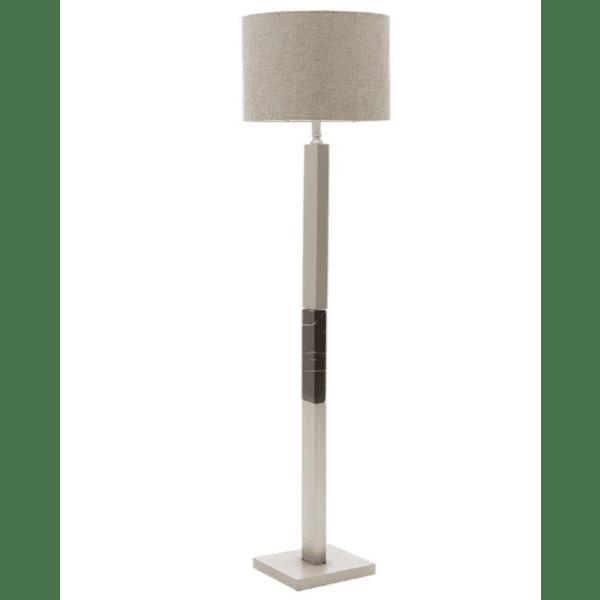 Метална подова лампа PWL-0940 сребристо-черно-сива шапка 43х43х153см