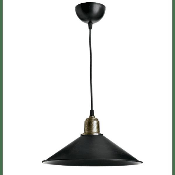 Таванна лампа PWL-0964-черен Φ30x62см