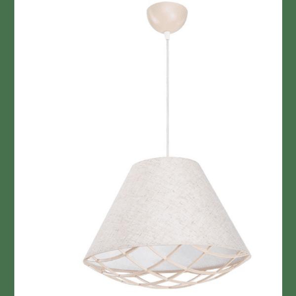Таванна лампа PWL-0962-сив-бежов цвят Φ30x70см
