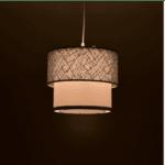 Таванна лампа PWL-0963 сребро-бяла Φ30x55см