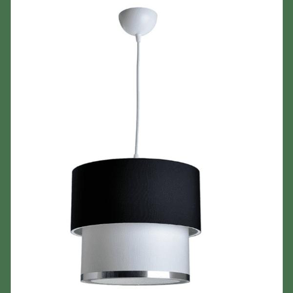 Таванна лампа PWL-0963 черно-бяла Φ30x55см
