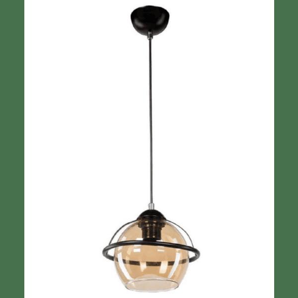 Таванна лампа PWL-0956 черно-бежово Φ20x80см