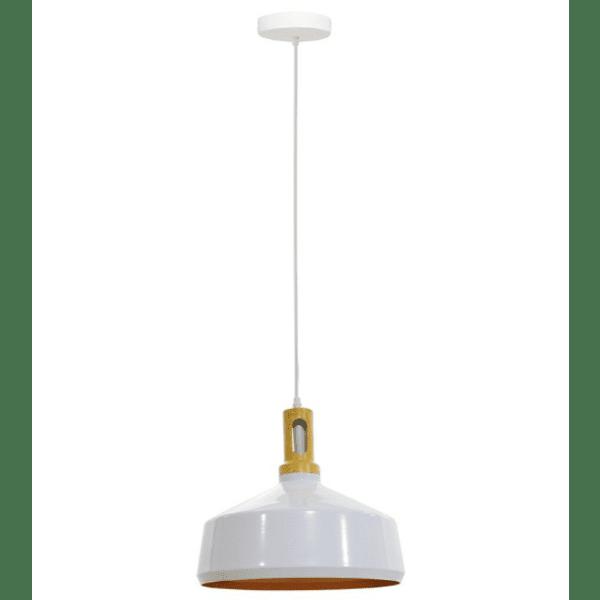 Висяща алуминиева таванна лампа PWL-0018 бял цвят Φ34x31см