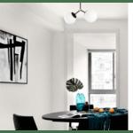 Таванна лампа PWL-0158 черно-бяла 44x15x28cm
