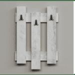 Закачалка Wave  цвят бял антик 45x3.5x66cm