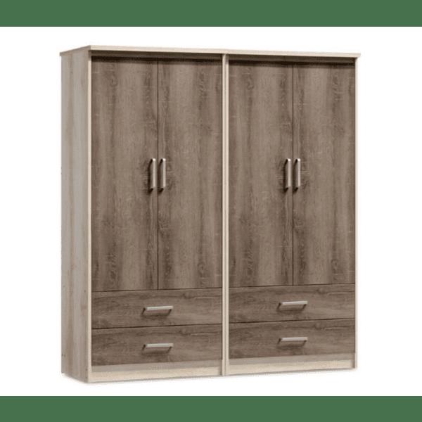 Четирикрилен гардероб Olympus цвят castillo-toro 162x57x183cm