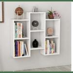 Шкаф за книги  Fleet цвят бял 85x22x76cm