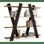 Библиотека Кенди  цвят естествен-венге 150x29x137см