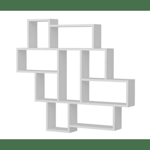 Стенна библиотека Рина-цвят бял 115,5x14,5x103,5cm