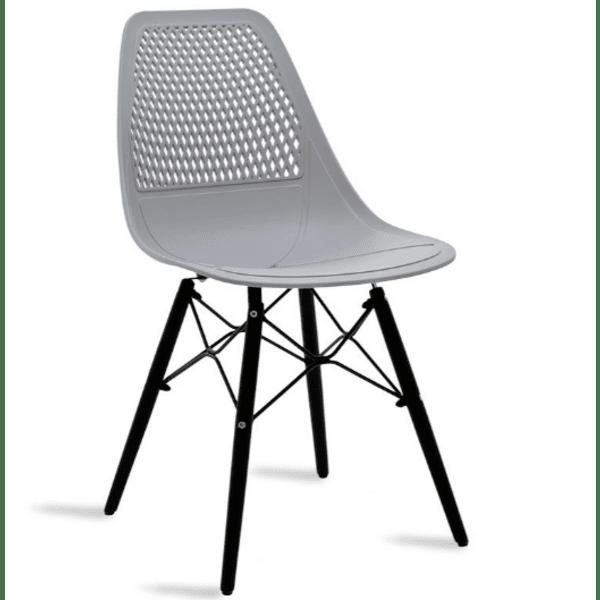 Трапезен стол Нина сив цвят