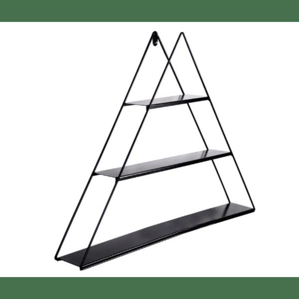 Стенен рафт Tahira цвят черен 70x15x60cm