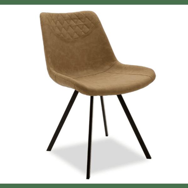 Трапезен стол Orca бежово-кафяв цвят