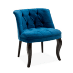 Кресло Лорета-син цвят 59x64x73см
