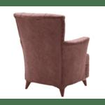 Кресло Lalezar цвят бордо 76х80х91см