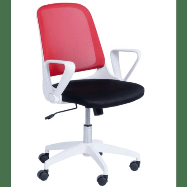 Работен офис стол Carmen 7033 - червено - черен